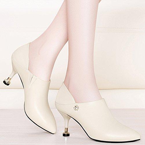 KPHY Feder-Spitzen, Wasser-Bohrer Single-Maul mit mit mit Katzen-Damen-Schuhe zum 7 cm, hohe Schuhe Arbeitsschuhe Schwarz 9d9a62