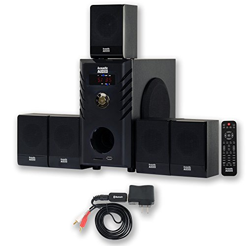 Acoustic Audio AA5104 Home Theater 5.1 Speaker System with