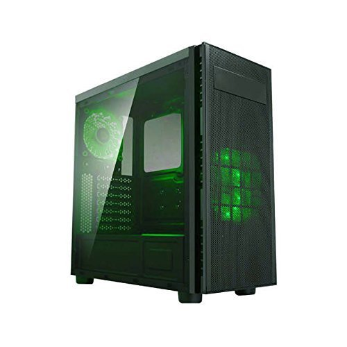 Apevia X-HARMONY-GN Mid Tower with Full-Size Acrylic Side Window, Top USB3.0/USB2.0/Audio Ports – Green