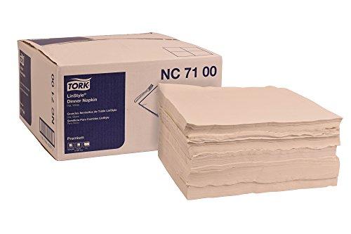 Tork NC7100 Premium LinStyle Dinner Napkin, Flat Pack,1-Ply, 17.0