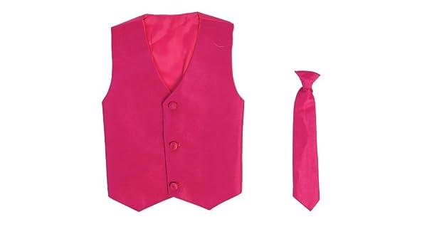 Chaleco y Clip On Boy corbata Conjunto – Fucsia – 6/7 Color ...