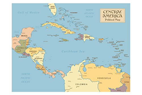 wall map of central america - 9
