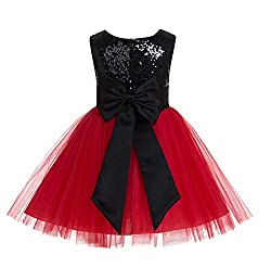 Sequins Tulle Flower Girl Dress