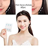Tchrules Face Lifting Patch Invisible Artifact Sticker Lift Chin Thin Face Sticker Adhesive Tape Make-up Face Lift Tools 60PCS/Box