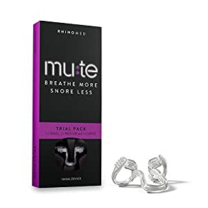 (Trial Pack) - Rhinomed Mute Nasal Dilator For Snoring Reduction, Trial Pack (Pack of 3 Assorted Sizes)