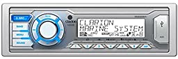 Clarion M205 Single DIN In-Dash Digital Media Marine Receiver for iPhone/Pandora Playback