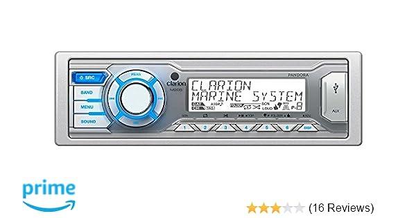 Amazon.com: Clarion M205 Single DIN In-Dash Digital Media Marine ...