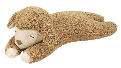 LivHeart Maple the Sheep Cushion Pillow Beige Sleeping version from Japan