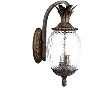 Acclaim 7512BC Lanai Collection 3 Light Wall Mount Outdoor Light Fixture,  Black Coral