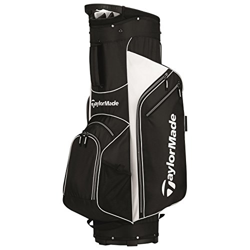 TaylorMade 2017 Golf Bag TM Cart Bag 5.0 BlkWht - Black White