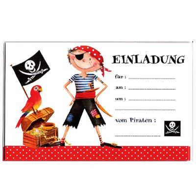 Einladungskarten Pirat Kinder Geburtstag Kindergeburtstag: Amazon.de:  Spielzeug