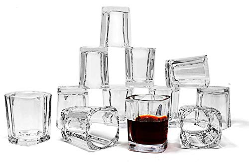 Jalousie 12 Pack clear glass 2 Ounces 2.4