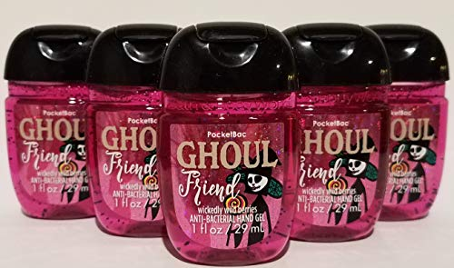 Bath and Body Works 5 Pack Pocketbac Hand Sanitizer Ghoul Friend (Wild Berries) 1 -