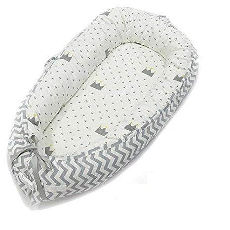 FOONEE - Tumbona para bebé, portátil, ideal para descansar, dormir con el bebé, como cama de viaje portátil, cuna, o nido de bebé, para 0 – 8 meses de ...