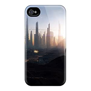 New Style Cases Covers XLB7427SHAK Outer Space Cityscapes Moon Compatible With Iphone 4/4s Protection Cases