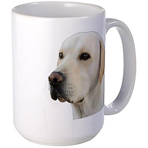 CafePress - Yellow Lab Head - Coffee Mug, Large 15 oz. White Coffee Cup - Labrador Coffee