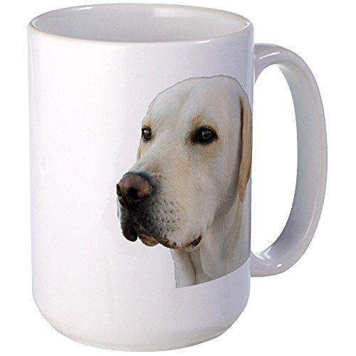 - CafePress - Yellow Lab Head Large Mug - Coffee Mug, Large 15 oz. White Coffee Cup