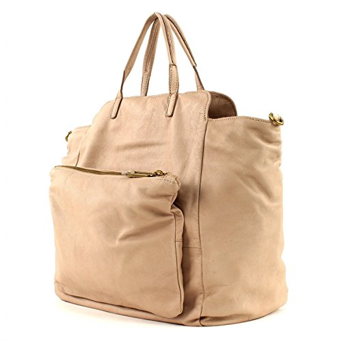 Marc O´Polo Washed Shopper Borsa L with Zip Sand