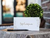 Blank Gift Certificates for Business - 25 Gold Foil