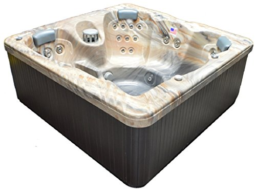 Home And Garden Spas LPI30SQR 6 Person 30 Jet Spa With Perimeter LED  Lighting, Tuscan Sun