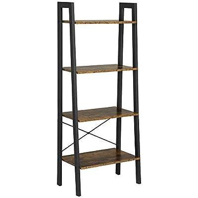 Yaheetech Ladder Rack Shelf, 4-Tier Storage Shelving Bookshelf, Free-Standing Plant Flower Stand, Accent Home Office Furniture