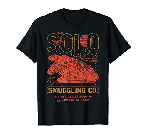 Star Wars Han Solo Smuggling Co. Poster  T-Shirt (Han Solo Don T Tell Me The Odds)