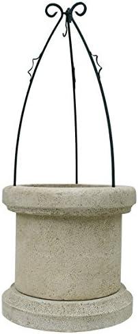 CATART Pozo Brocal Decorativo para jardín en hormigón-Piedra 70X70X169cm.: Amazon.es: Jardín