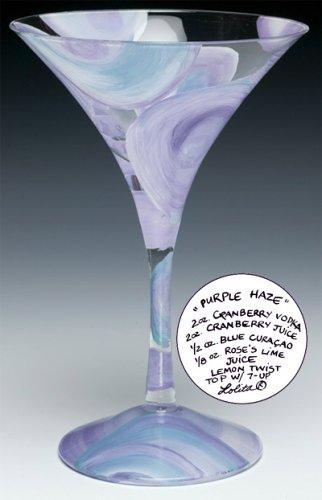Lolita Love My Martini Glass Collection - Purple Haze by Santa Barbara Design Studio