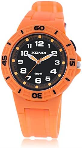 Boys and girls night light waterproof/100Meter quartz sports watch-A