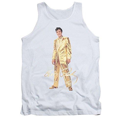 (Sons of Gotham Elvis Presley Gold Lame Suit Adult Tank Top T-shirt)