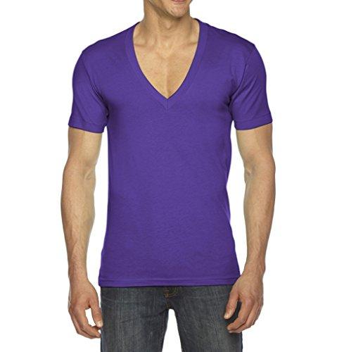 American Apparel V-neck Shirt - American Apparel Unisex Short Sleeve Deep V-neck T-Shirt