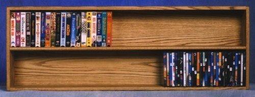 (52 in. Wall Mount Media Storage (Honey Oak))