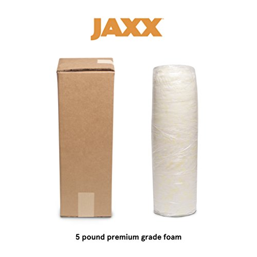 Jaxx Shredded Foam Filling - Refill for Pillows, Bean Bag Chairs, Dog Beds, and Cushions - 5 ()