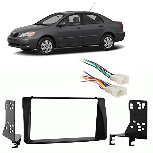 Fits Toyota Corolla 2003-2008 Double DIN Harness Radio Install Dash Kit