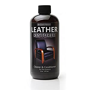 European Leather Restorer - The Best One Step Leather Conditioner and Cleaner - 16 Ounce Bottle