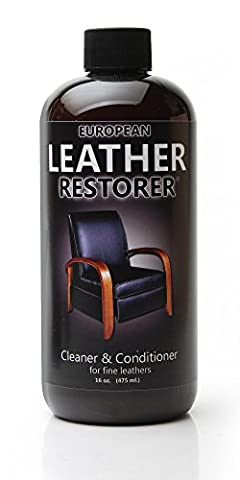 European Leather Restorer - The Best One Step Leather Conditioner and Cleaner - 16 Ounce Bottle (Car Conditioning Cleaner)