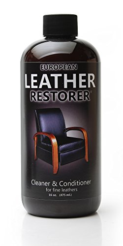 European Leather Restorer - The Best One Step Leather Conditioner and Cleaner - 16 Ounce Bottle (Conditioning Emulsion)