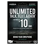 UNREAL Mobile Unlimited Talk, Text & Data, SIM Card Starter Kit, 3-in-1