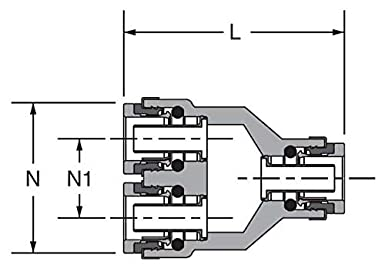 Tube to Tube 1//2 Composite Push-to-Connect Fitting Push-to-Connect Union Y Parker 362PTC-8 Air Brake D.O.T PTC