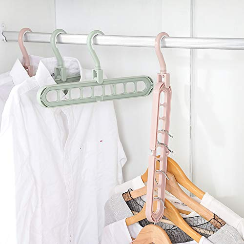 5 pcs Peiyu Clothes Hanger Multi-Function Nine-Hole Magic Wardrobe Drying Rack Storage Clothes Organizer for Home