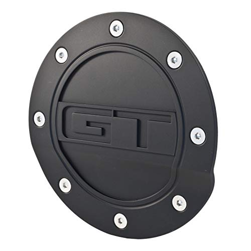 2015-2019 Mustang Black Fuel Door with GT Logo