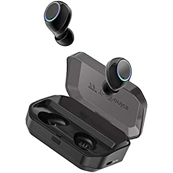 Wireless Earbuds, TaoTronics Bluetooth 5.0 Headphones True Wireless Ear Buds IPX7 Waterproof Dual Built-in Mic Earphones with 3500mAh Charging Case for 120H ...