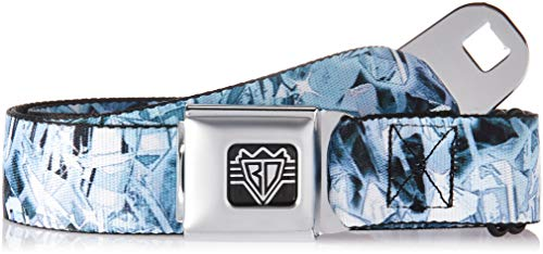 Buckle-Down Unisex-Adult's Seatbelt Belt Crystals XL, Clear, 1.5