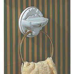 Herbeau 11230757 Berain Rose/Brushed Nickel Universal TOWEL RING/SOAP DISH (Herbeau Berain Rose)