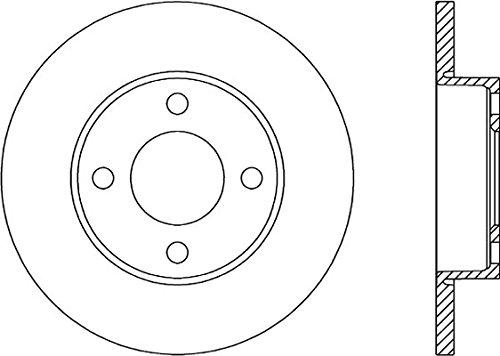anteriore febi bilstein 08556 disco freno set di 2 dischi