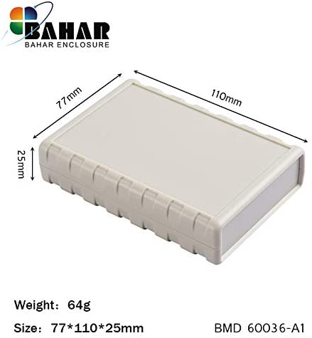 Ochoos Bahar PCB - Caja de plástico para proyectos (77 x 110 x 25 ...