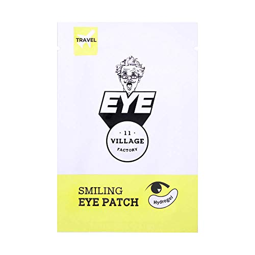Village 11 Factory Smiling Eye Patch Set of 5, Under Eye Mask Anti-Aging Hyaluronic Acid Patches for Moisturizing and Reducing Dark Circles Puffiness