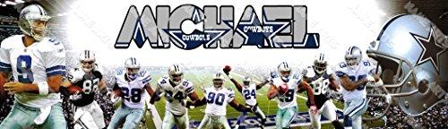 mized Bratz Dallas Cowboys NFL Name Poster Wall Decor Door Birthday Art Banner ()
