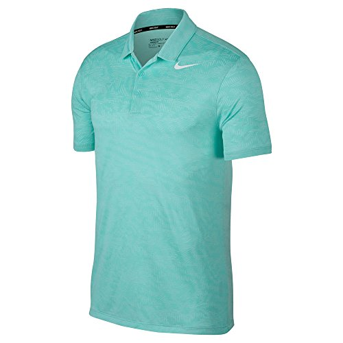 Nike Dry Fit Breathe Jacquard Golf Polo 2017 Light Aqua/White XX-Large