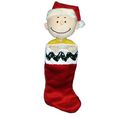 Kurt Adler Peanuts Charlie Brown Plush Head Stocking, 21-Inch (Plush Angel Stocking)